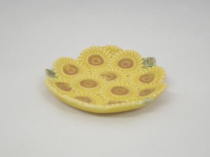 金彩向日葵 小皿